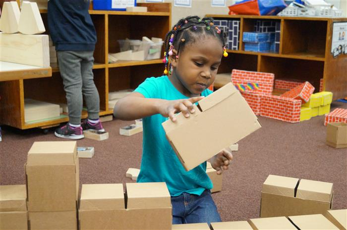 Blumfield prekindergarten building blocks