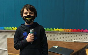 Meadows elementary student featured in school's good news show.