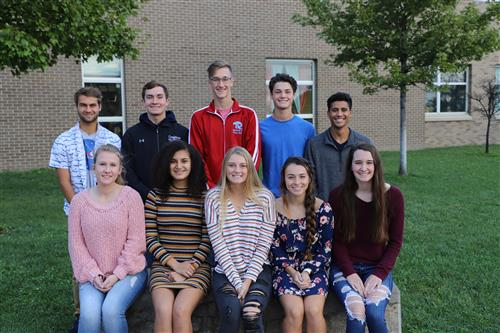 This is a picture of the 2019 Ralston High School Homecoming Court.