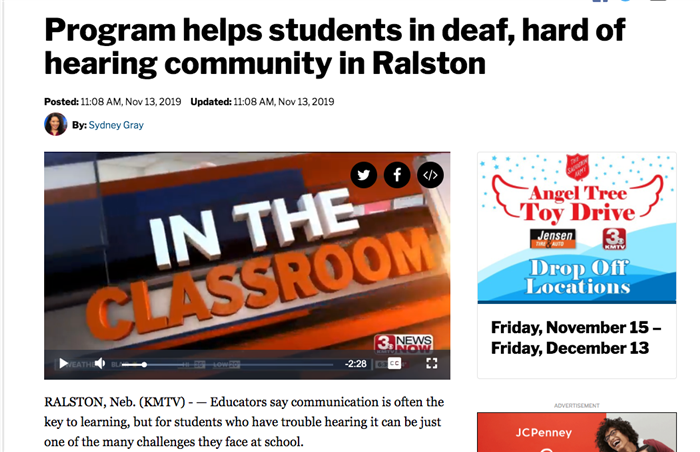 This is an image of the Suburban Schools story on the KMTV 3 News Now website.